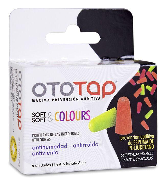 Ototap Tapones Espuma Poliuretano de Colores, 6 Uds