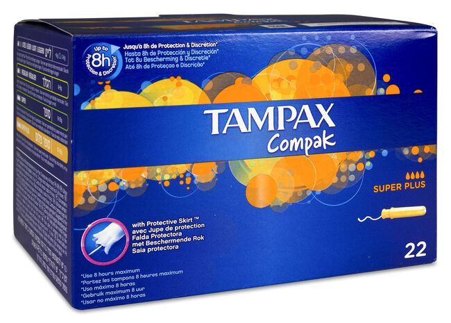 Tampax Compak Super Plus, 22 Uds
