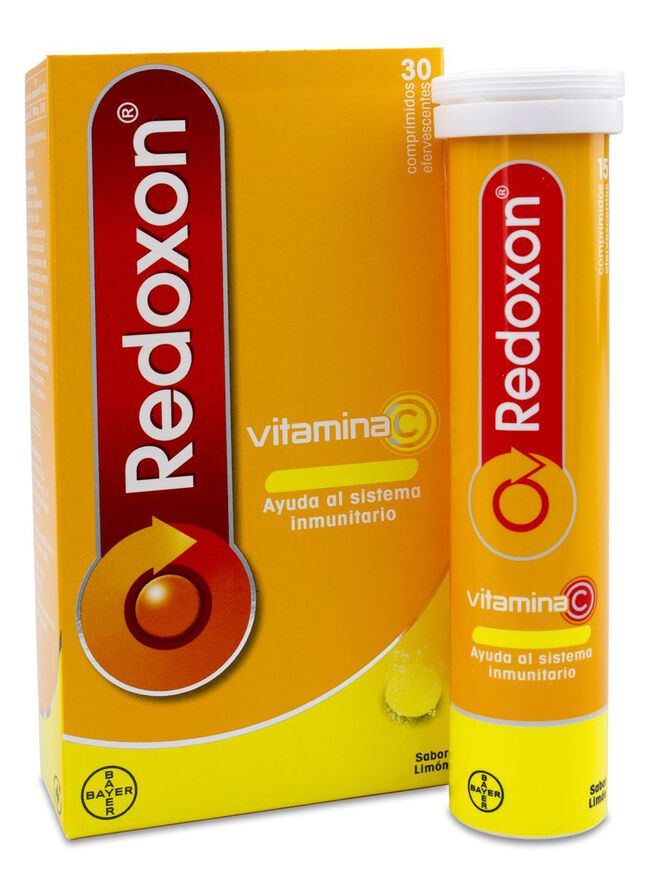 Redoxon Vitamina C Efervescente Sabor Limón, 30 Comprimidos