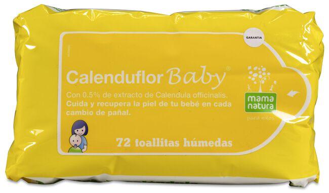 Mama Natura Calenduflor Baby Toallitas, 72 Uds