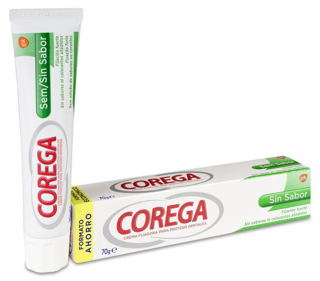 Corega Crema Extra Fuerte Sin Sabor, 70 g