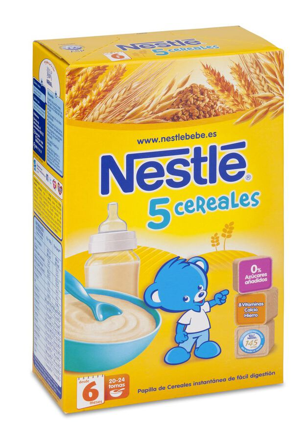 Nestlé Papilla 5 Cereales, 600 g