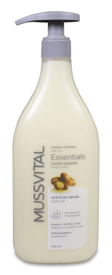 Mussvital Essentials Loción Aceite de Argán, 400 ml