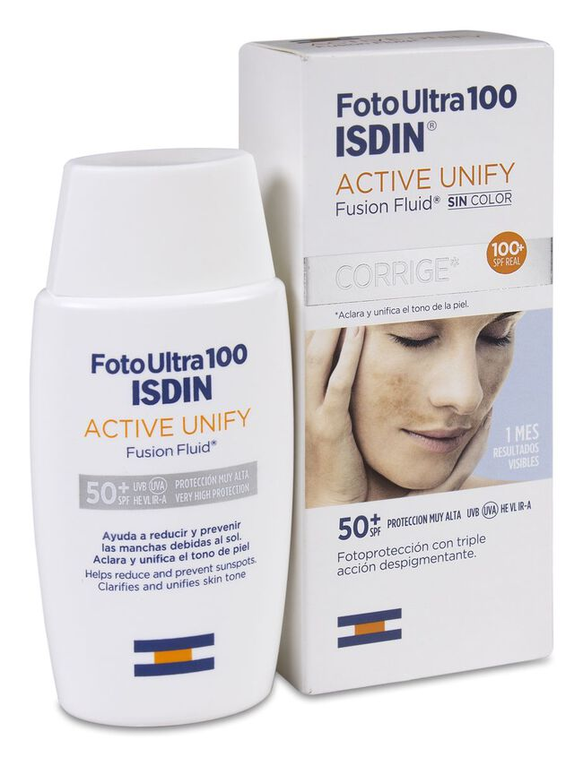 Fotoultra Isdin 100 Active Unify Fusion Fluid SPF 50+, 50 ml