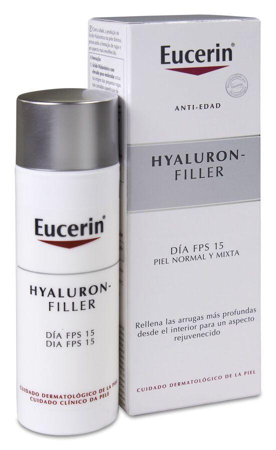 Eucerin Hyaluron Filler Antiarrugas Día SPF 15+ Piel Normal y Mixta, 50 ml