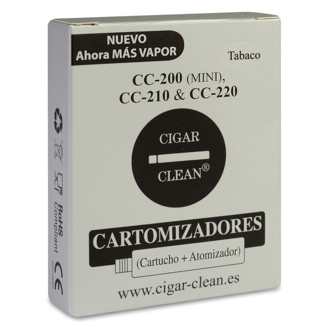 Cigar Clean Cartomizadores Recarga Tabaco CC 200/210