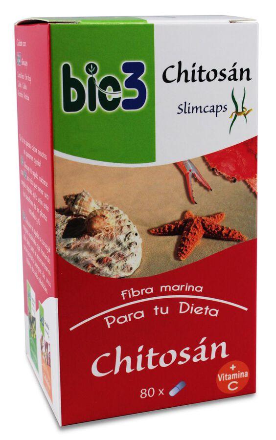 Bie3 Chitosan 500 mg, 80 Cápsulas