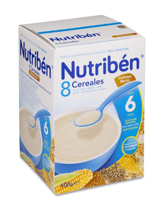 Nutribén 8 Cereales Galletas María, 600 g