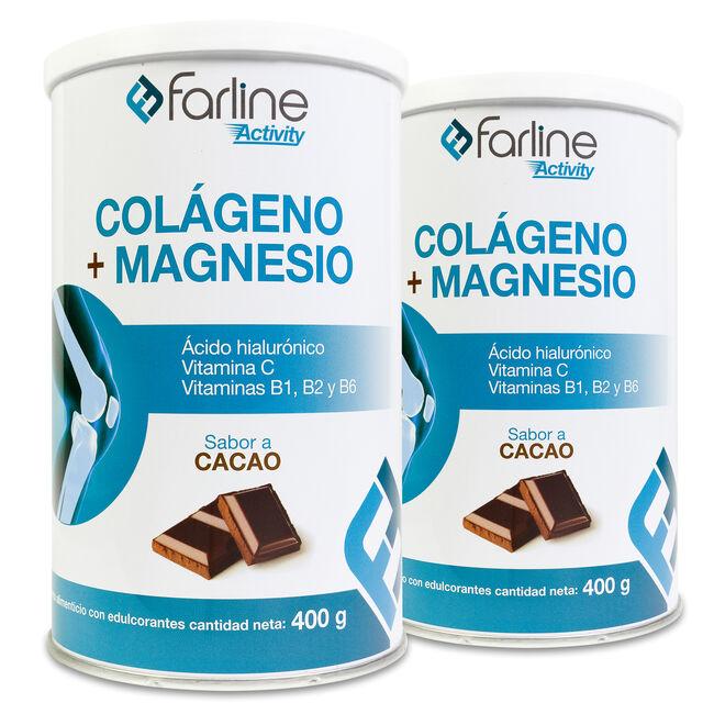 Duplo Farline Colágeno + Magnesio Cacao, 2 x 400 g