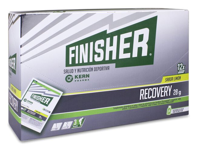 Finisher Recovery Polvo Sabor Limón 28 g, 12 Uds