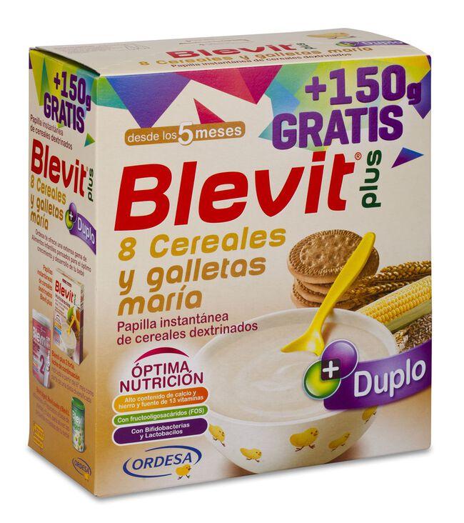 Blevit Plus Duplo 8 Cereales y Galletas María,  600 g