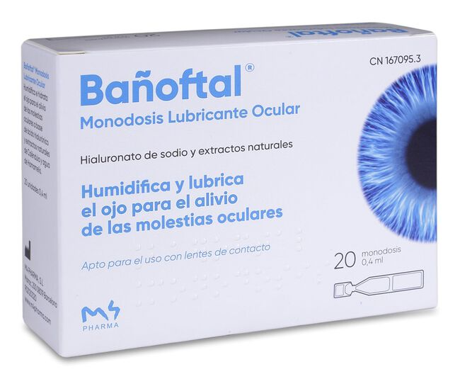 Bañoftal Gotas Oftálmicas Monodosis, 20 Uds image number null