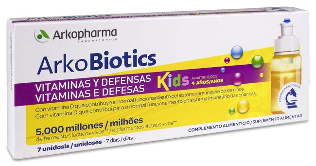 Arkopharma Arkobiotics Vitaminas y Defensas Niños, 7 Ampollas