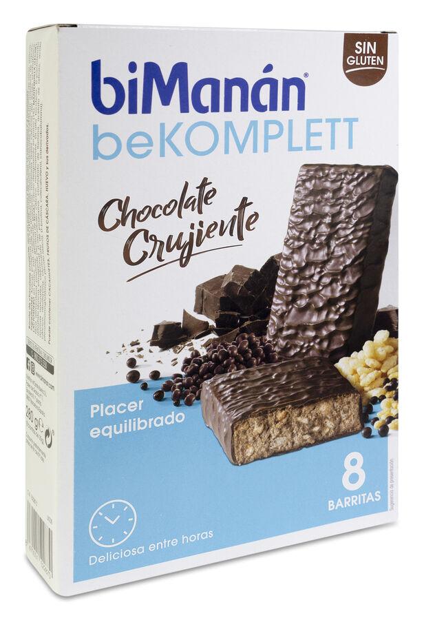 biManán Barrita de Chocolate Crujiente, 8 Uds