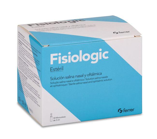 Fisiologic Solución Salina Nasal y Oftalmica 5 ml, 30 Uds