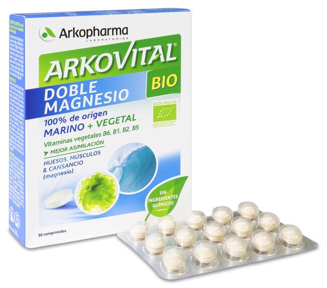 Arkopharma Arkovital Doble Magnesio BIO, 30 Comprimidos