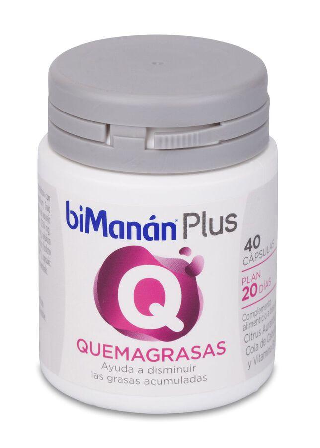 biManán Plus Q Quemagrasas Cápsulas, 40 Uds
