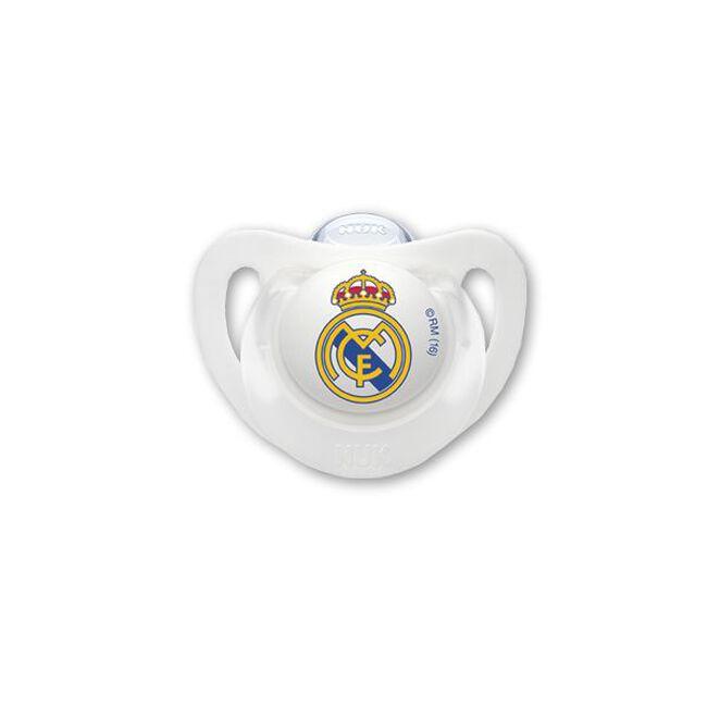 Nuk Chupete Silicona Real Madrid 0-6 M, 1 Ud