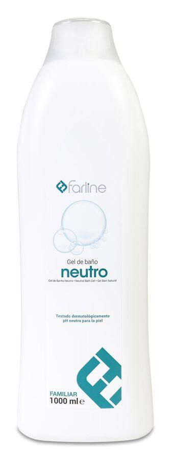 Farline Gel Familiar de Ducha y Baño Neutro, 1 L