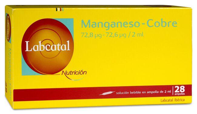 Labcatal Nutrición Manganeso-Cobre, 28 Ampollas