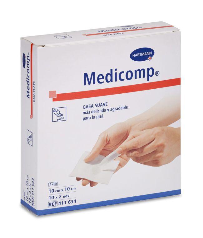 Medicomp Gasa Suave 10 x 10 cm, 20 Uds