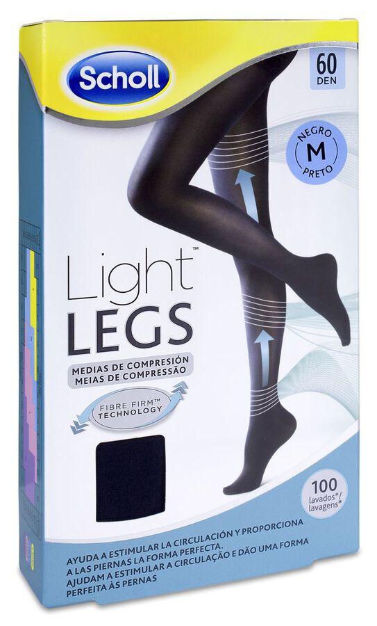 Scholl Light Legs Medias Compresión 60 Den Color Negro Talla M, 1 Ud