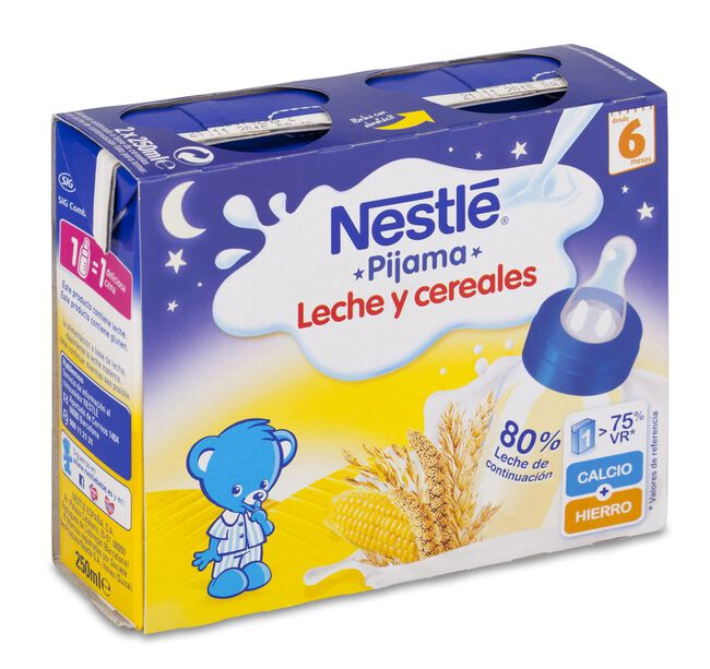 Nestlé Pijama Leche y Cereales Brick, 2 Uds