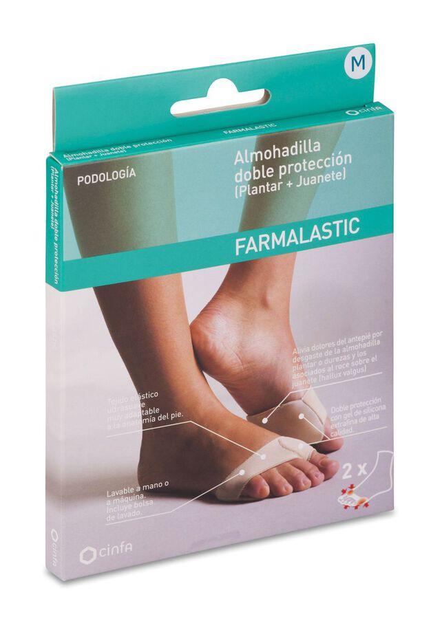 Farmalastic Almohadilla Doble Protección Mediana, 1 Par