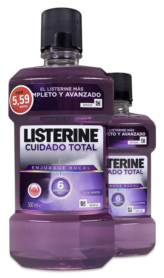 Pack Listerine Cuidado Total, 500 ml + 250 ml