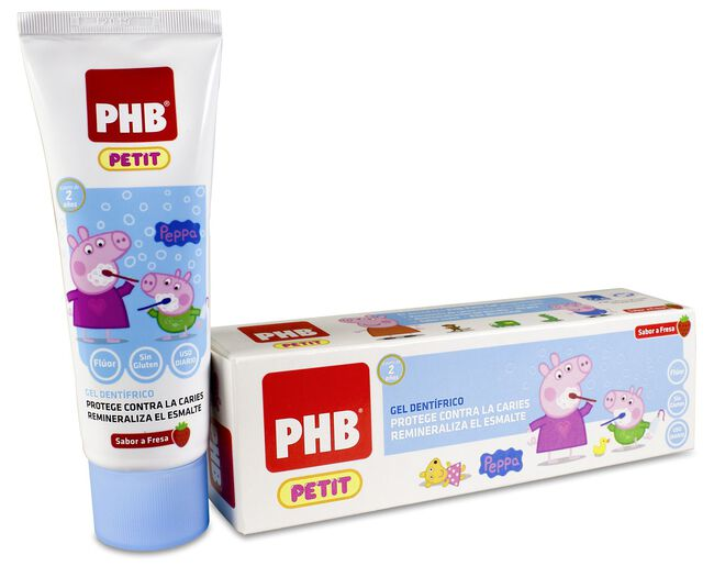 PHB Petit Gel Dentífrico Peppa Pig, 75 ml
