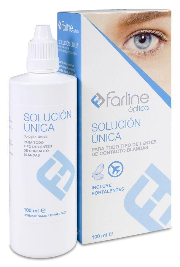 Farline Óptica Solución Única Formato de Viaje, 100 ml