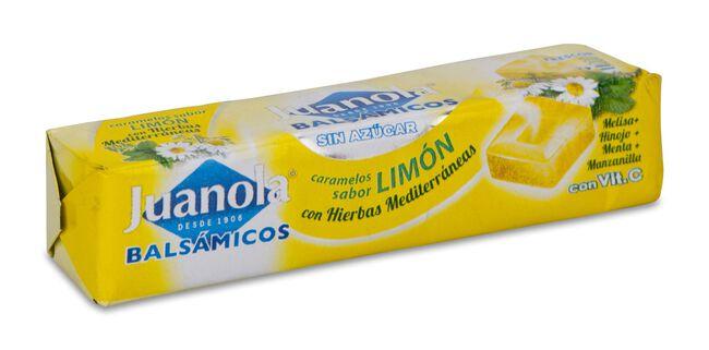 Juanola Caramelos Balsámicos Sabor Limón con Hierbas Mediterráneas, 30 g