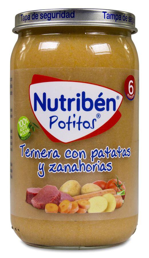 Nutribén Potitos Ternera con Patatas y Zanahorias, 235 g