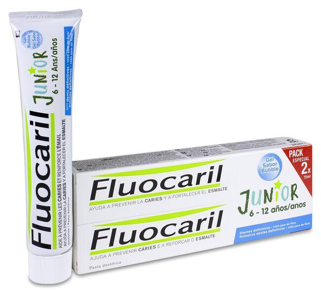 Duplo Fluocaril Junior Gel Dental Bubble, 2 x 75 ml