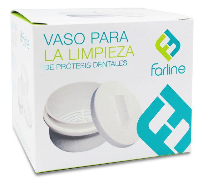 Farline Vaso Limpieza Prótesis Dental, 1 Ud