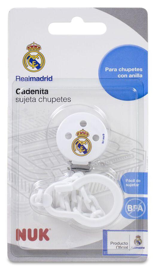 Nuk Cadenita Sujeta Chupetes Real Madrid, 1 Ud