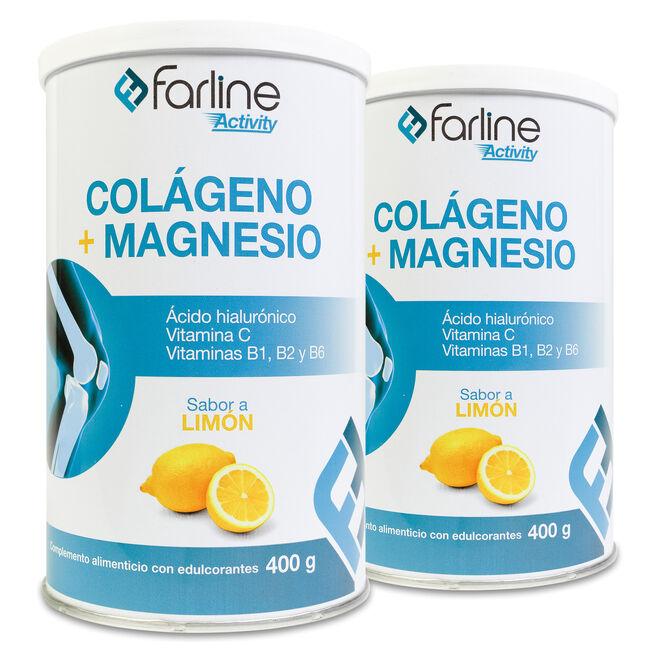 Pack Farline Activity Colágeno+Magnesio Sabor Limón, 2 Uds