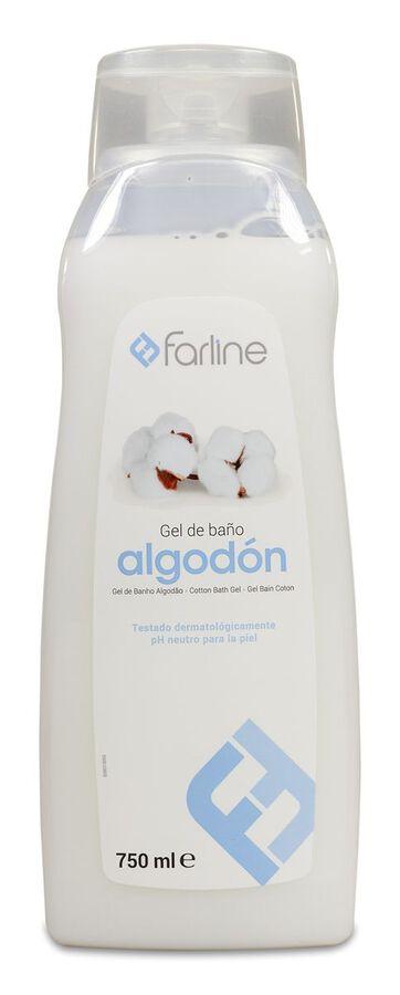 Farline Gel de Baño Algodón, 750 ml