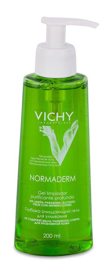 Vichy Normaderm Gel Limpiador Purificante, 200 ml