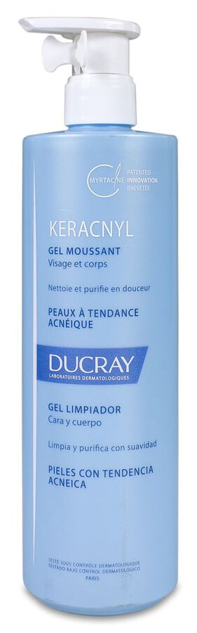 Ducray Keracnyl Gel Limpiador, 400 ml