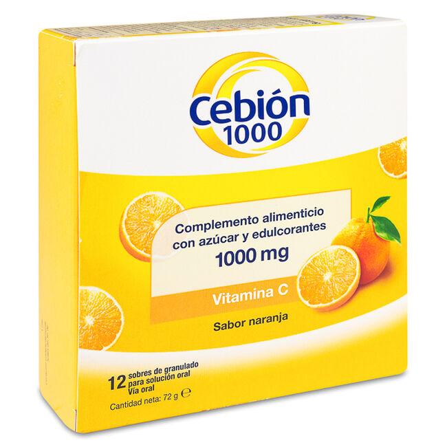 Cebion 1000 mg Sabor Naranja, 12 Sobres