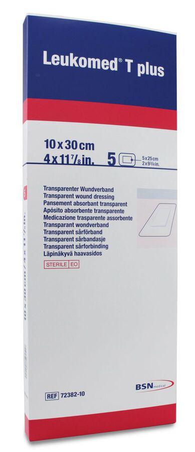Leukomed T Plus Apósito Transparente 10 cm x 30 cm, 5 Uds