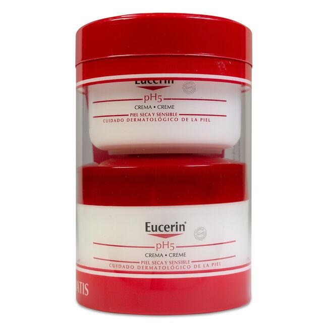 Pack Eucerin pH5 Crema Hidratante Piel Seca y Sensible, 100 + 75 ml