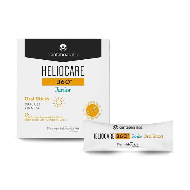 Heliocare 360º Junior Oral Sticks, 20 Uds