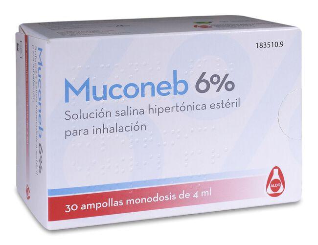 Muconeb 6% Solución Salina, 30 Ampollas