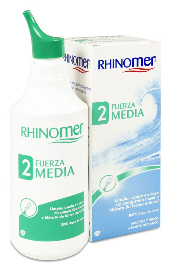Rhinomer Limpieza Nasal Fuerza 2 Nebulizador, 135 ml