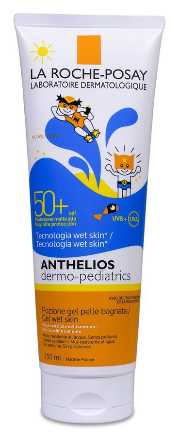 La Roche-Posay Anthelios Dermo-Pediatrics Gel-Loción Piel Húmeda SPF 50+, 250 ml
