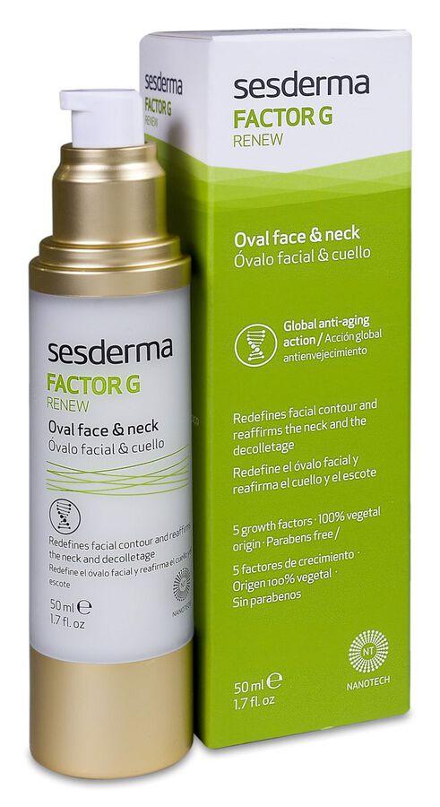 Sesderma Factor G Renew Óvalo Facial y Cuello, 50 ml