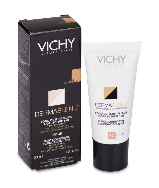 Dermablend Fondo De Maquillaje Corrector Vichy Cosmetica Correctora, 45 Gold