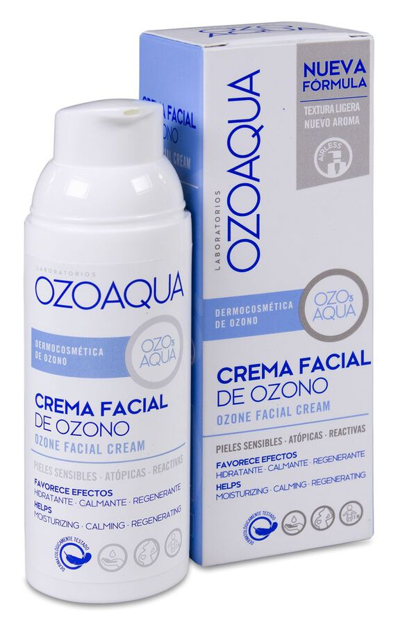 Ozoaqua Crema Facial de Ozono, 50 ml